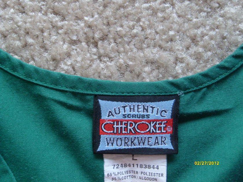 WORKWEAR Green Medical Uniform Scrubs Short Sleeve Scrub Shirt