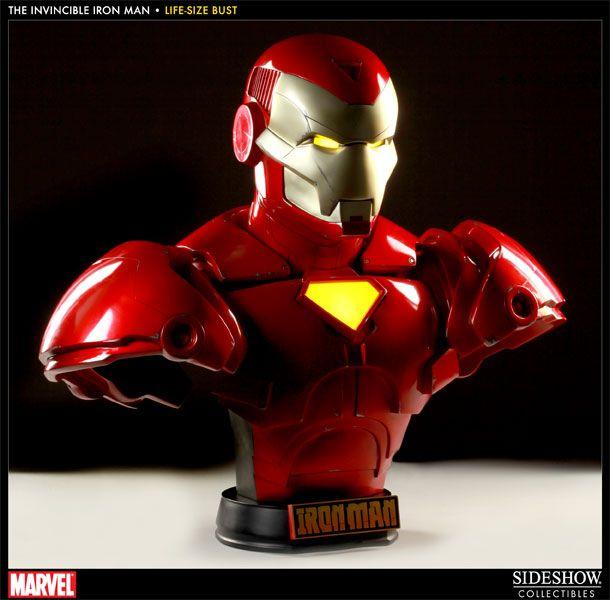 Sideshow Iron Man   Invincible Iron Man Life Size Bust Comic Ver