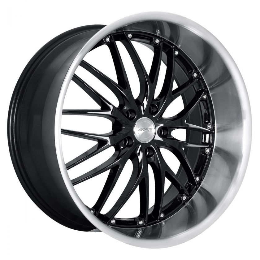 MRR GT1 Black Rims Wheels Ford Mustang Infiniti G35 Coupe Nissan 350Z