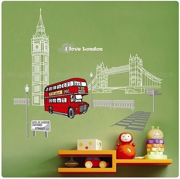 London Adhesive Removable Wall Decor Accents Stickers Decals & Vinyl
