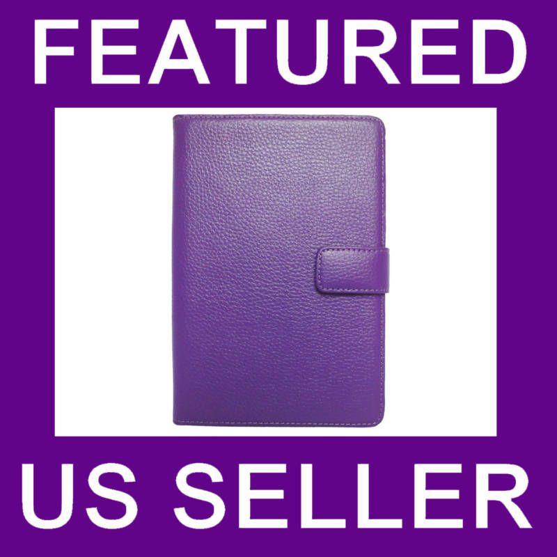 Ebook Kindle 3 Leather Case Cover Jacket Purple