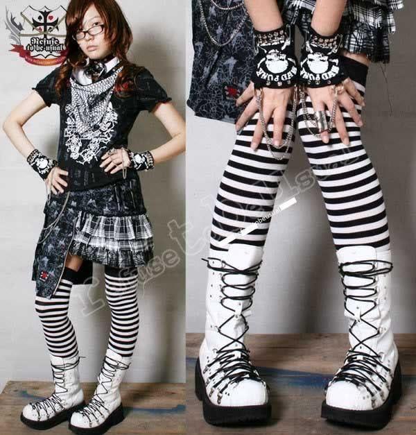GOTHIC Punk Visual Kei D ring Corset Platform boot 25.5