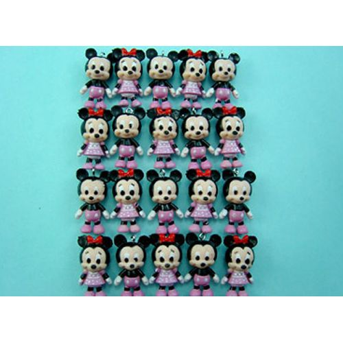 20 X Disney Mickey Minnie Mouse Purple Figures Pendant Charms FREE