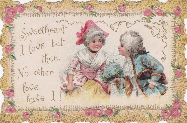 Sweetheart Valentines Day 1900s vintage romance card