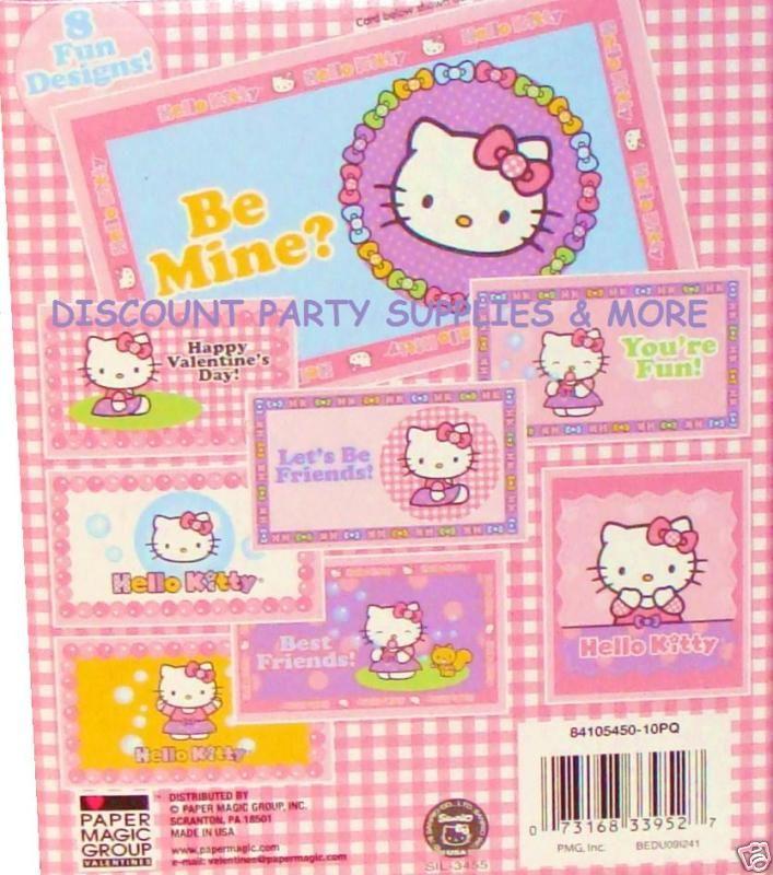 Hello Kitty Valentine Cards 24 Valentines