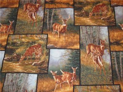 Handmade Table Runner Deer Wildlife Lodge Cabin Buck
