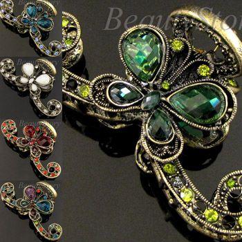 ADDL Item  rhinestone crystal Antiqued butterfly hair